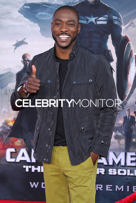 """HOLLYWOOD, LOS ANGELES, CA, USA - MARCH 13: B.J. Britt at the World Premiere Of Marvel's """"Captain America: The Winter Soldier"""" held at the El Capitan Theatre on March 13, 2014 in Hollywood, Los Angeles, California, United States. (Photo by Xavier Collin/Celebrity Monitor)"""