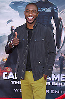 "HOLLYWOOD, LOS ANGELES, CA, USA - MARCH 13: B.J. Britt at the World Premiere Of Marvel's ""Captain America: The Winter Soldier"" held at the El Capitan Theatre on March 13, 2014 in Hollywood, Los Angeles, California, United States. (Photo by Xavier Collin/Celebrity Monitor)"