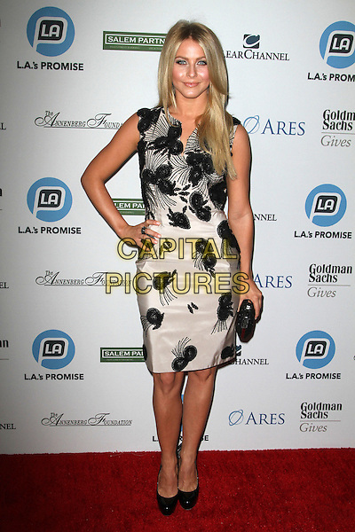 Julianne Hough.LA's Promise Honors Ryan Seacrest At 2011 Gala Held at A the Kodak Theatre, Hollywood, California, USA..27 September 2011.full length dress sleeveless clutch bag black white hand on hip.CAP/ADM/KB.©Kevan Brooks/AdMedia/Capital Pictures.