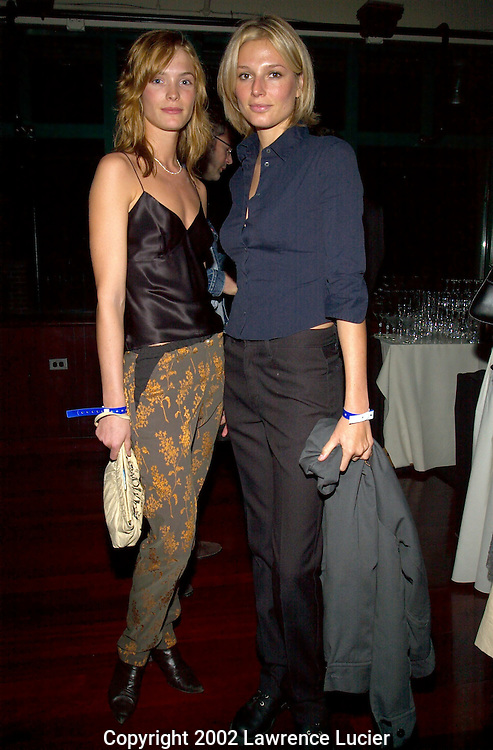 NEW YORK-NOVEMBER 15: Models Sabrina Huls (L) and Bridget Hall (R) appear at the American Cancer Society's 2002 Gift Groove November 15, 2002, at Bridgewaters in New York City.