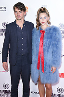 director, Jack Eve and Hermione Corfield<br /> arriving for the World premiere of &quot;Bees Make Honey&quot; at the Vue West End, Leicester Square, London<br /> <br /> <br /> &copy;Ash Knotek  D3314  23/09/2017