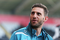 Angel Rangel of Swansea City arrives prior to the game during the Premier League game between Swansea City v Chelsea at the Liberty Stadium, Swansea, Wales, UK. Saturday 28 April 2018
