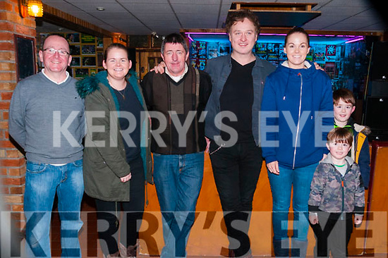 Mundy Concert: Pictured with Mundy at his concert at Mike the Pie's Bar, Listowel on Thursday night last were Tommy Canavan, Edel O'Connor, Brendan Kelliher, sandra O'connor & Josh & Jay Moran.