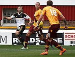 Aberdeen's Niall McGinn crosses staight into the net to score for Aberdeen