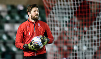 Lincoln City's Josh Vickers during the pre-match warm-up<br /> <br /> Photographer Chris Vaughan/CameraSport<br /> <br /> The EFL Sky Bet League Two - Lincoln City v Yeovil Town - Friday 8th March 2019 - Sincil Bank - Lincoln<br /> <br /> World Copyright © 2019 CameraSport. All rights reserved. 43 Linden Ave. Countesthorpe. Leicester. England. LE8 5PG - Tel: +44 (0) 116 277 4147 - admin@camerasport.com - www.camerasport.com