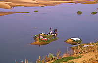 Women washing in the middle of the Senegal river