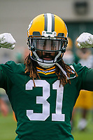 Green Bay Packers cornerback Davon House (31) during an Organized Team Activity on May 23, 2017 at Clarke Hinkle Field in Green Bay, Wisconsin.  (Brad Krause/Krause Sports Photography)