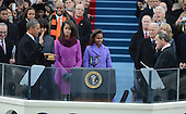 President Barack Obama is sworn-in for a second term as the President of the United States by Supreme Court Chief Justice John Roberts during his public inauguration ceremony at the U.S. Capitol Building in Washington, D.C. on January 21, 2013.      .Credit: Pat Benic / Pool via CNP