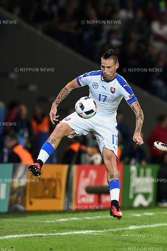 Marek Hamsik (Slovakia) ; <br /> June 15, 2016 - Football : Uefa Euro France 2016, Group B, Russia 1-2 Slovakia at Stade Pierre Mauroy, Lille Metropole, France.; ;(Photo by aicfoto/AFLO)