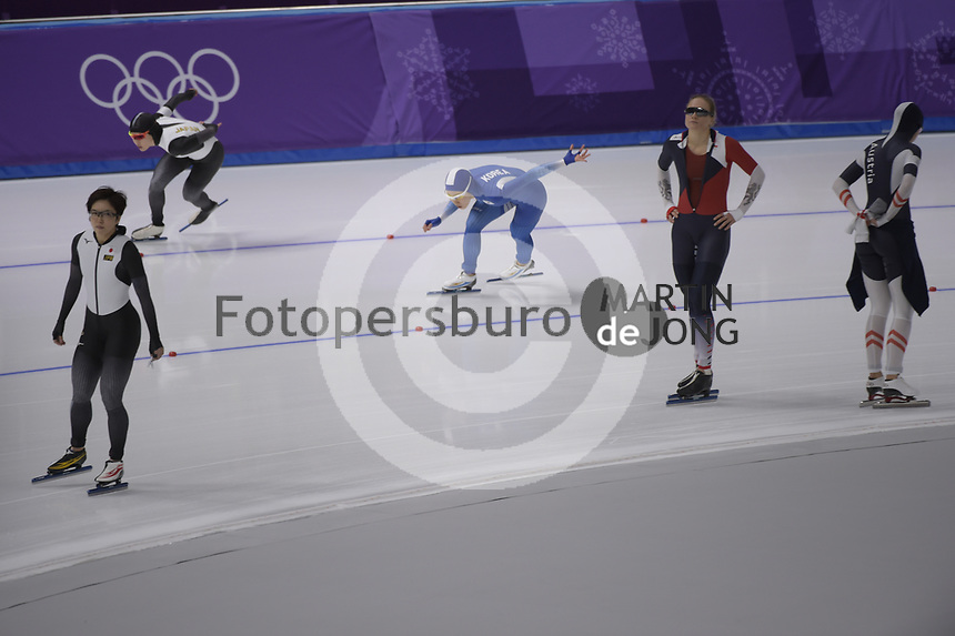 OLYMPIC GAMES: PYEONGCHANG: 18-02-2018, Gangneung Oval, Long Track, 500m Ladies, Sang-Hwa Lee (KOR), ©photo Martin de Jong