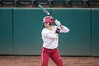 STANFORD, CA -- March 8, 2019. The Stanford Cardinal women's softball team defeats the Bucknell Bison 2-1 at the Smith Family Stadium.