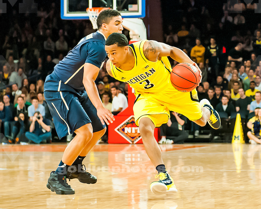 The University of Michigan men's basketball team beat Pittsburgh, 67-62, in the NIT Season Tip-Off semifinals at Madison Square Garden in New York, N.Y., on November 21, 2012.