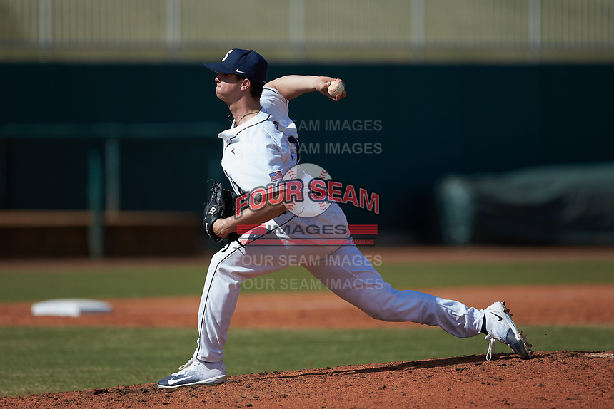 Penn State Nittany Lions relief pitcher Cole Bartels (29) in action against the Xavier Musketeers at Coleman Field at the USA Baseball National Training Center on February 25, 2017 in Cary, North Carolina. The Musketeers defeated the Nittany Lions 10-4 in game one of a double header. (Brian Westerholt/Four Seam Images)