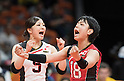 Arisa Sato, Kotoki Zayasu (JPN),<br /> AUGUST 8, 2016 - Volleyball : <br /> Women's Preliminary Pool A <br /> between Japan 3-0 Cameroon <br /> at Maracanazinho <br /> during the Rio 2016 Olympic Games in Rio de Janeiro, Brazil.<br /> (Photo by Enrico Calderoni/AFLO SPORT)