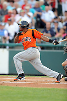 July 15, 2009:  Miguel Abreu of the Bowie Baysox during the 2009 Eastern League All-Star game at Mercer County Waterfront Park in Trenton, NJ.  Photo By David Schofield/Four Seam Images