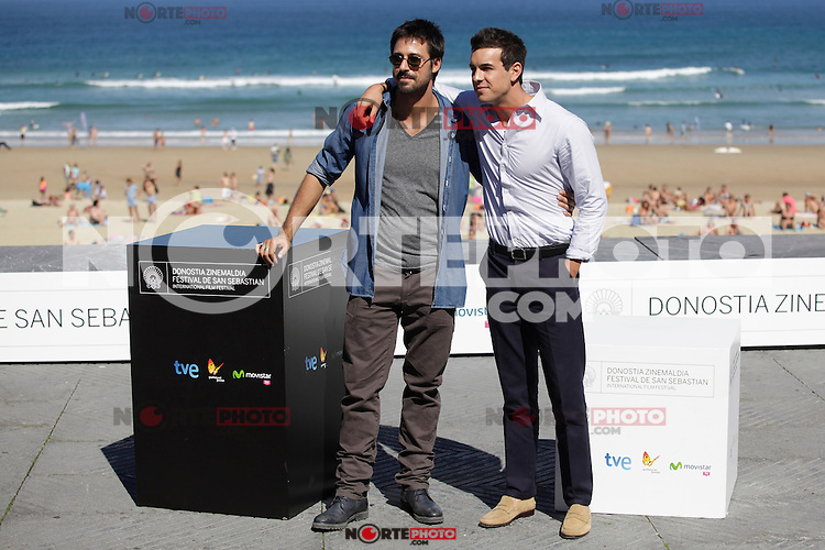"Actors Hugo Silva (L) and Mario Casas (R) posse during the presentation of ""Las brujas de Zugarramurdi"" in the 61 San Sebastian Film Festival, in San Sebastian, Spain. September 22, 2013. (ALTERPHOTOS/Victor Blanco) /NortePhoto"
