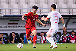 Ngan Van Dai of Vietnam (L) competes for the ball with Ehsan Haji Safi of Iran during the AFC Asian Cup UAE 2019 Group D match between Vietnam (VIE) and I.R. Iran (IRN) at Al Nahyan Stadium on 12 January 2019 in Abu Dhabi, United Arab Emirates. Photo by Marcio Rodrigo Machado / Power Sport Images