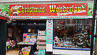 "Pictured: The Christmas Wonderland pop-up shop in Swansea, Wales, UK<br /> Re: A pop-up trader has been condemned for ""peddling festive porn"" by stocking raunchy boob and willy merchandise alongside the tinsel and mistletoe.<br /> Shocked families with young kids expecting to snap up a cheap bauble are greeted by inflatable penises, sponge willies and an array of gaudy erections doubling as money boxes.<br /> Bargain hunters in Swansea were drawn to the Christmas Wonderland pop-up shop when it appeared this week at the centre of the city's popular festive market.<br /> While some find the sexually explicit stock just a bit of fun, families are furious that very young kids are greeted with ""filth.""<br /> Boasting ""Bargains Galore"" a shop sign outside lists bows, tinsel, tags and Xmas wrap among its festive stock - but makes no mention of squeeze boobs or penis stethoscopes.<br /> ""My kids were all excited to go round the colourful Christmas market. But once we walked inside the kids came face to face with filth,"" said a young mum, from Sketty, Swansea, who did not want to be named.<br /> ""My daughter is only seven and her brother's five. I would never knowingly let them go into a shop which stocks this kind of stuff.<br /> ""I don't want to sound like a prude but a shop like this should be for adults only. They are peddling festive porn. It's junk as far as l'm concerned."