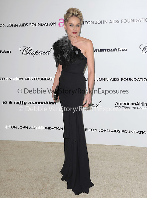 Sharon Stone at the 19th Annual Elton John AIDS Foundation Academy Awards Viewing Party held at The Pacific Design Center Outdoor Plaza in West Hollywood, California on August 27,2011                                                                               © 2011 DVS / Hollywood Press Agency