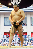 April 17th 2017, Tokyo, Japan;  Harumafuji, Sumo : Yasukuni Shrine Honozumo is a ceremonial annual sumo tournament held in the precincts of the Yasukuni Shrine in Tokyo, Japan.