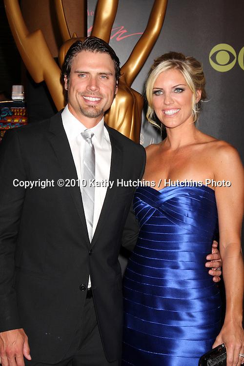 Joshua Morrow & Wife Tobe.arrives at the 2010 Daytime Emmy Awards .Las Vegas Hilton Hotel & Casino.Las Vegas, NV.June 27, 2010.©2010 Kathy Hutchins / Hutchins Photo....