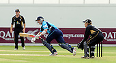 30.8.10 - CB40 Cricket - Warwickshire Bears V Scottish Saltires at Edgbaston - Scottish Saltire (and Tasmananian) batsman George Bailey sees the ball away for his 50, eventually to reach 123no for his maiden Scottish century - Picture by Donald MacLeod - mobile 07702 319 738 - clanmacleod@btinternet.com - words if required from William Dick 077707 839 23