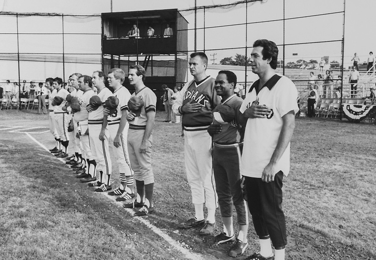Baseball team singing National Anthem. (Photo by Dev O'Neill/CQ Roll Call via Getty Images)
