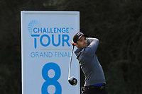 Marcel Schneider (GER) on the 8th tee during Round 2 of the Challenge Tour Grand Final 2019 at Club de Golf Alcanada, Port d'Alcúdia, Mallorca, Spain on Friday 8th November 2019.<br /> Picture:  Thos Caffrey / Golffile<br /> <br /> All photo usage must carry mandatory copyright credit (© Golffile | Thos Caffrey)