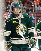 Drew MacKenzie (Vermont - 2) - The visiting University of Vermont Catamounts tied the Boston University Terriers 3-3 in the opening game of their weekend series at Agganis Arena in Boston, Massachusetts, on Friday, February 25, 2011.