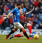16.03.2019 Rangers v Kilmarnock: Daniel Candeias and Alan Power