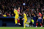 Atletico de Madrid's Filipe Luis and Borussia Dortmund's Paco Alcacer fight for the ball during UEFA Champions League match between Atletico de Madrid and Borussia Dortmund at Wanda Metropolitano Stadium in Madrid, Spain. November 06, 2018. (ALTERPHOTOS/A. Perez Meca)