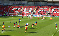The Blackpool team warm up <br /> <br /> Photographer Alex Dodd/CameraSport<br /> <br /> The EFL Sky Bet League One - Rotherham United v Blackpool - Saturday 5th May 2018 - New York Stadium - Rotherham<br /> <br /> World Copyright &copy; 2018 CameraSport. All rights reserved. 43 Linden Ave. Countesthorpe. Leicester. England. LE8 5PG - Tel: +44 (0) 116 277 4147 - admin@camerasport.com - www.camerasport.com