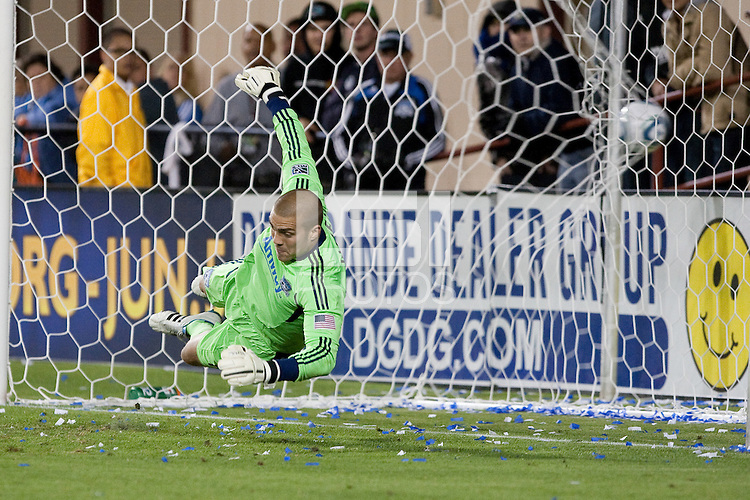 Andrew Weber misses the penalty kick. The Chicago Fire defeated the San Jose Earthquakes after going 5-4 on penalty kicks, after a 2-2 score in regulation during the US Open Cup at Buck Shaw Stadium in Santa Clara, California on May 24th, 2011.