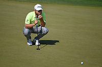 Tyrrell Hatton (ENG) lines up his birdie attempt on 11 during day 1 of the WGC Dell Match Play, at the Austin Country Club, Austin, Texas, USA. 3/27/2019.<br /> Picture: Golffile | Ken Murray<br /> <br /> <br /> All photo usage must carry mandatory copyright credit (© Golffile | Ken Murray)