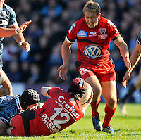 Cardiff, Wales. Jonny Wilkinson of Toulon during the Heineken Cup Match between Cardiff Blues and Toulon at The Arms Park on October 21, 2012 in Cardiff, Wales