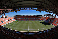 Houston, TX - Sunday Oct. 09, 2016: BBVA Compass Stadium prior to a National Women's Soccer League (NWSL) Championship match between the Washington Spirit and the Western New York Flash at BBVA Compass Stadium.