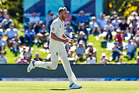 Stuart Broad of England celebrates the wicket of Ross Taylor of the Black Caps during Day 2 of the Second International Cricket Test match, New Zealand V England, Hagley Oval, Christchurch, New Zealand, 31th March 2018.Copyright photo: John Davidson / www.photosport.nz