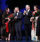 Diane Paulus, Garry Barlow, Harvey Weinstein, Matthew Morrison and Laura Michelle Kelly  during the Broadway Opening Night Performance curtain call for  'Finding Neverland'  at The Lunt-Fontanne  Theatre on April 15, 2015 in New York City.