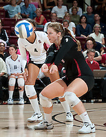 STANFORD, CA - September 2, 2010: Gabi Ailes (9) during a volleyball match against UC Irvine in Stanford, California. Stanford won 3-0.