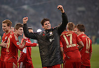 FUSSBALL   DFB POKAL   SAISON 2011/2012   HALBFINALE   21.03.2012 Borussia Moenchengladbach - FC Bayern Muenchen  SCHLUSSJUBEL FC Bayern Muenchen;  Mario Gomez