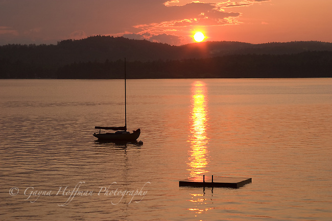 Sunset on Lake Sunapee, New London, NH