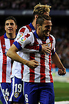 Atletico de Madrid´s Koke and Fernando Torres celebrates a goal during 2014-15 La Liga match between Atletico de Madrid and Valencia CF at Vicente Calderon stadium in Madrid, Spain. March 08, 2015. (ALTERPHOTOS/Luis Fernandez)