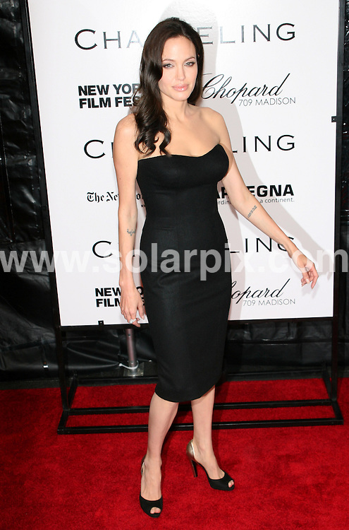 **ALL ROUND PICTURES FROM SOLARPIX.COM**.**SYNDICATION RIGHTS FOR UK, SPAIN, PORTUGAL, AUSTRALIA, S.AFRICA & DUBAI (U.A.E) ONLY**.The 46th New York Film Festival the Changeling film Premiere at the Ziegfeld Theatre at 141 West 54th Street in New York City in the USA..This pic:Angelina Jolie  ..JOB REF:7522- PHZ/Sylvain Gaboury   DATE:04_09_08 .**MUST CREDIT SOLARPIX.COM OR DOUBLE FEE WILL BE CHARGED* *UNDER NO CIRCUMSTANCES IS THIS IMAGE TO BE REPRODUCED FOR ANY ONLINE EDITION WITHOUT PRIOR PERMISSION*
