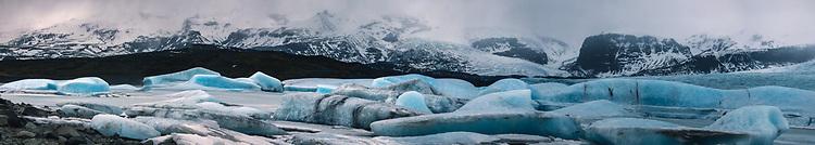 Icebergs on Fjallsarlon Glacier Lake,Vatnajokull National Park,Iceland