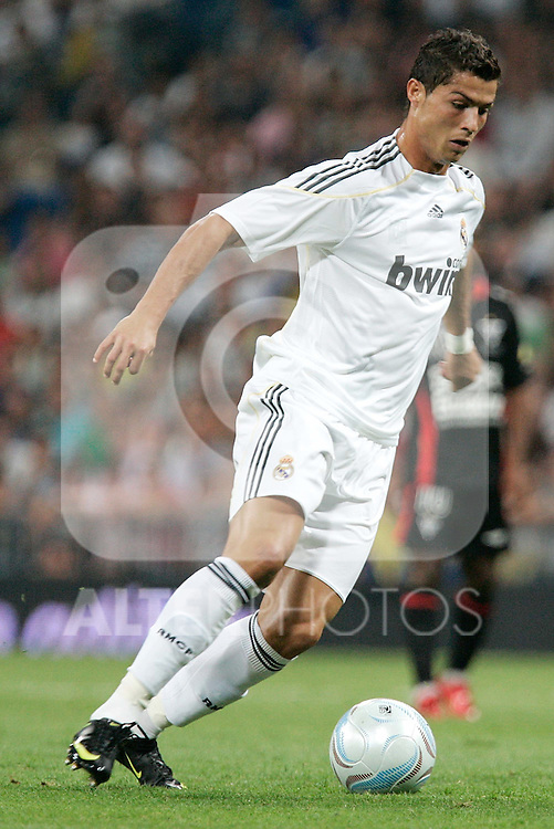 Real Madrid's Cristiano Ronaldo during a friendly match, July 28, 2009. (ALTERPHOTOS/Alvaro Hernandez).