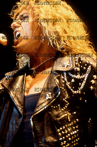 Whitesnake - vocalist David Coverdale performing live at the Monsters of Rock at Donington Park Donington UK - 18 Aug 1990.  Photo credit: George Chin/IconicPix
