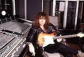 Rising Force - guitarist Yngwie Malmsteen - photographed exclusively at Olympic Studios in London UK - 26 Mar 1990.  Photo credit: George Chin/IconicPix