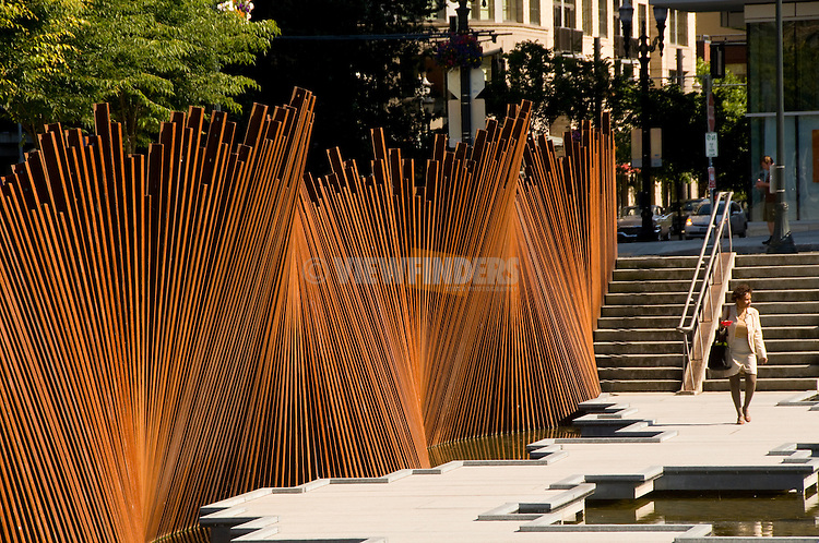 Tanner Springs Park, Pearl District, Portland, Oregon