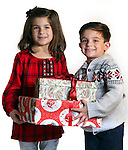 WATERBURY CT. 22 November 2016-112316SV02-Christmas Kid. <br /> Billie Perrotti, 6, and her brother Nico Perrotti, 5, of Waterbury.<br /> Steven Valenti Republican-American