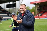Joe Joyce of Bristol Bears celebrates after the match. Gallagher Premiership match, between Leicester Tigers and Bristol Bears on April 27, 2019 at Welford Road in Leicester, England. Photo by: Patrick Khachfe / JMP